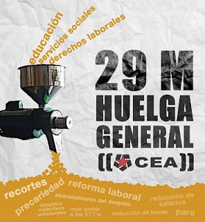 CEA General Strike poster image
