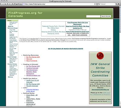 FindProgress.org screenshot image