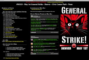 Occupy Denver Website screenshot image